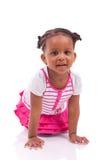 逗人喜爱的矮小的非裔美国人的女孩-黑人孩子 免版税库存照片
