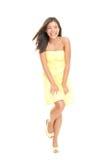 逗人喜爱的礼服夏天妇女 免版税库存照片