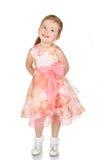 逗人喜爱的礼服女孩少许纵向公主 免版税库存照片