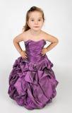 逗人喜爱的礼服女孩少许纵向公主 免版税库存图片