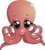 逗人喜爱的章鱼动画片 免版税库存图片