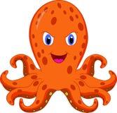 逗人喜爱的章鱼动画片 皇族释放例证