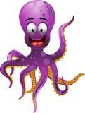 逗人喜爱的章鱼动画片 免版税库存照片