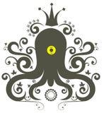 逗人喜爱的章鱼 库存例证