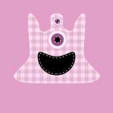 逗人喜爱的粉红色kilted妖怪 库存例证