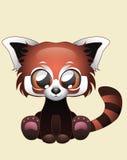 逗人喜爱的红熊猫传染媒介例证艺术 库存图片