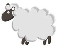 逗人喜爱的绵羊向量 免版税库存照片