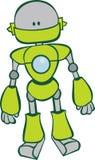 逗人喜爱的绿色机器人 库存图片