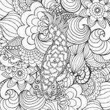 逗人喜爱的美冠鹦鹉在幻想庭院里 免版税库存照片