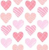 逗人喜爱的美好的桃红色心脏样式传染媒介 向量例证