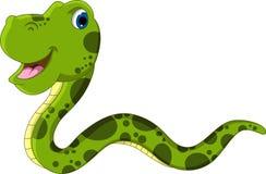 逗人喜爱的翠青蛇动画片 免版税库存照片