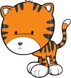 逗人喜爱的老虎向量 免版税库存图片