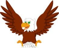 逗人喜爱的老鹰动画片 免版税库存图片