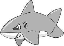 逗人喜爱的膨胀的鲨鱼 免版税库存照片