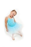 逗人喜爱的芭蕾舞女演员一点 免版税库存照片