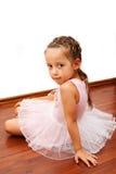 逗人喜爱的芭蕾舞女演员 免版税库存图片