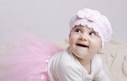逗人喜爱的芭蕾舞短裙婴孩 免版税库存照片