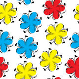 逗人喜爱的花卉无缝的样式,明亮的夏天花卉背景 花纹理 免版税库存图片