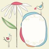 逗人喜爱的花卉框架 库存照片