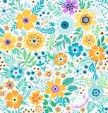 逗人喜爱的花卉模式 免版税库存图片