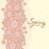 逗人喜爱的花卉浪漫卡片。春天背景。 库存图片