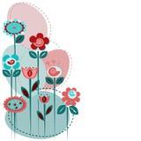 逗人喜爱的花背景 免版税库存图片