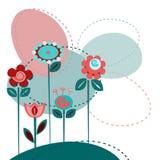逗人喜爱的花背景 库存图片