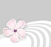 逗人喜爱的花背景 库存例证