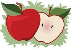 逗人喜爱的苹果 免版税库存图片