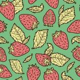 逗人喜爱的草莓样式 库存照片