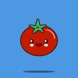 逗人喜爱的菜漫画人物蕃茄象kawaii微笑的面孔 免版税图库摄影