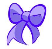 逗人喜爱的蓝色和浅紫色的弓 库存图片