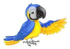 逗人喜爱的蓝色和黄色鹦鹉 库存例证