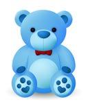 逗人喜爱的蓝色熊玩偶 库存照片