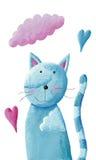 逗人喜爱的蓝色猫 图库摄影