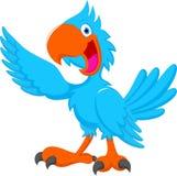 逗人喜爱的蓝色鸟动画片 皇族释放例证