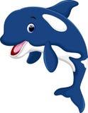 逗人喜爱的虎鲸动画片 库存图片