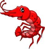 逗人喜爱的虾动画片 免版税图库摄影