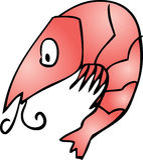逗人喜爱的虾 免版税库存图片
