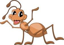逗人喜爱的蚂蚁动画片 免版税库存图片