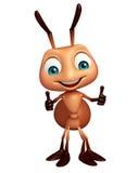 逗人喜爱的蚂蚁滑稽的漫画人物 向量例证