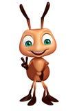 逗人喜爱的蚂蚁滑稽的漫画人物 库存例证