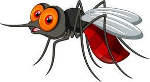 逗人喜爱的蚊子动画片 库存图片