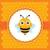 逗人喜爱的蜂。传染媒介例证。 库存图片