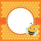 逗人喜爱的蜂。传染媒介例证。 图库摄影
