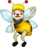 逗人喜爱的蜂动画片赞许 图库摄影