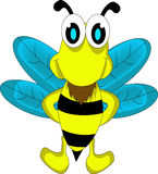 逗人喜爱的蜂动画片 免版税图库摄影