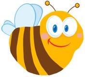 逗人喜爱的蜂漫画人物 图库摄影