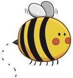 逗人喜爱的蜂飞行 库存例证