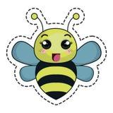 逗人喜爱的蜂kawaii字符 免版税图库摄影